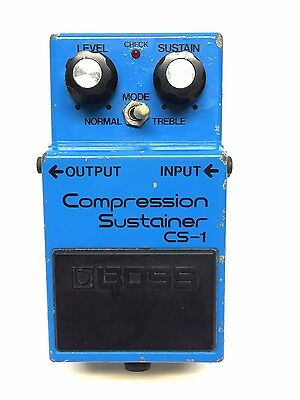 Boss CS-1, Compression Sustainer, Made In Japan, 1981, Long Dash