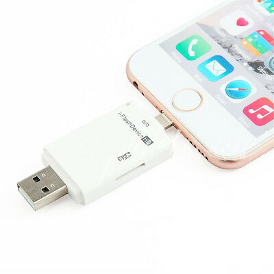 USB i-Flash Drive Micro SD/TF Memory Card Reader Adapter For iPhone iPod US Ship