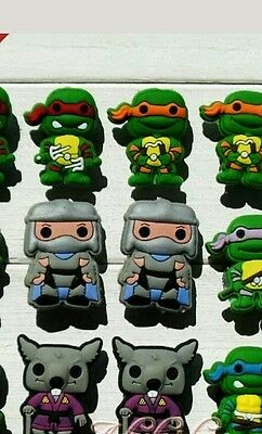 Mega Pack Of 8 Green Ninja TMNT Turtle Shoe Charm For Crocs And Shoes With Holes