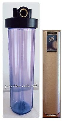 """Big Fat 20"""" Jumbo Size Clear Whole House Water Filter System (1""""Port) + Filter"""