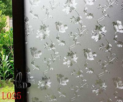 90cm x5m Static Glueless 3D Reusable Removable Frosted Window Glass Film L025