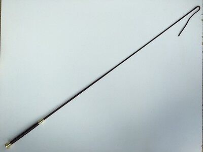 Dressage Whip Riding Crop Horse Whip Schooling Whip 95cm Brown Leather Handle
