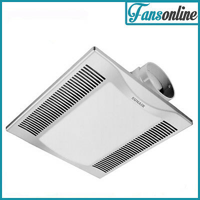 2 in 1 Ceiling Exhaust Fan with Light and Side Duct - Silver **Clearance