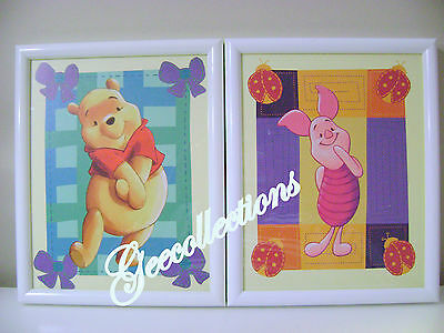 Disney Winnie The Pooh & Piglet 100 Acre Wood Delightful Pictures 2 Framed Pics