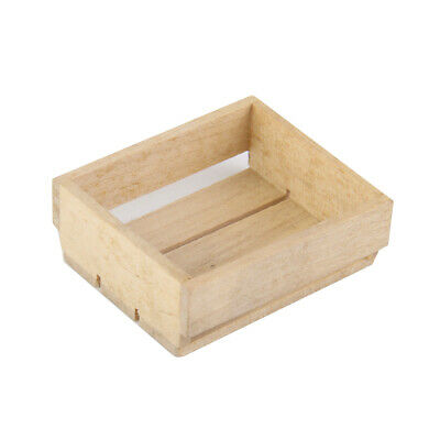 Dolls House Miniature Wooden Tray Box Kitchen Shop Food Storage Accessory