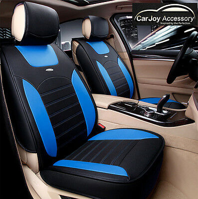 Blue Black Leather Car Seat Cover Waterproof Ford Focus Fiesta Holden Cruze Audi