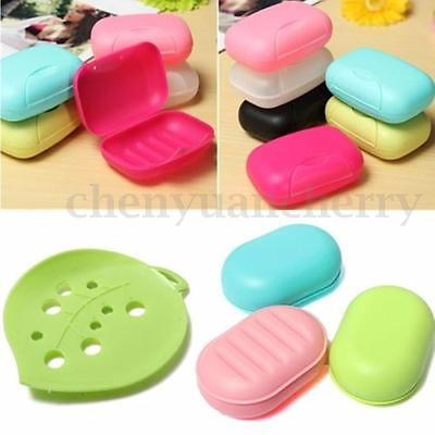 Portable Soap Box Dish Case Holder Container Home Bathroom Shower Travel Hiking