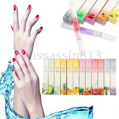 12Pcs Mix Taste Cuticle Revitalizer Oil Pen Nail Art Care Treatment Manicure Set