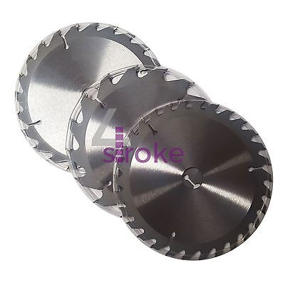 3Pc 190mm TCT Circular Saw Blades 20, 24 & 40 Teeth 16mm Bore Chop Wood
