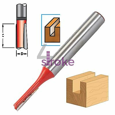 "1/4"" Shank Straight Imperial Cutter TCT Router Bits 1/8"" Diameter x 1/2"" Long"