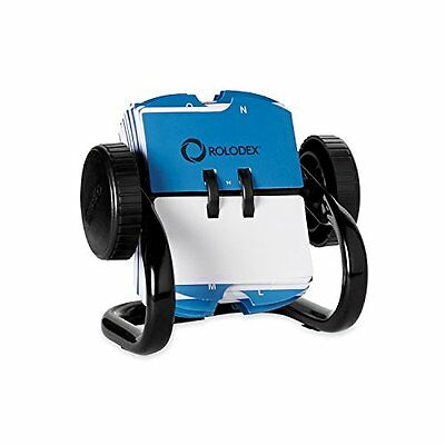 Rolodex Mini Open Rotary Card File with 250 1-3/4 x 3-1/4 Inch Cards and 24