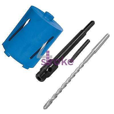 New 107mm x 150mm Diamond Core Hole Saw with Hex Arbor & Pilot Hole Drill Brick