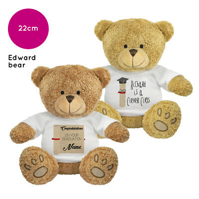 Personalised Name Graduation Edward Teddy Bear Gift Ideas Gifts for Him Her