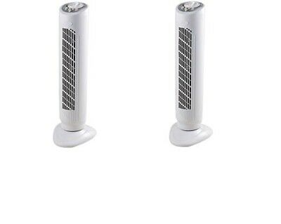 2 x 30 inch 3 Speed Tower Fans Oscillating Electric Air Fan Timer Free Standing