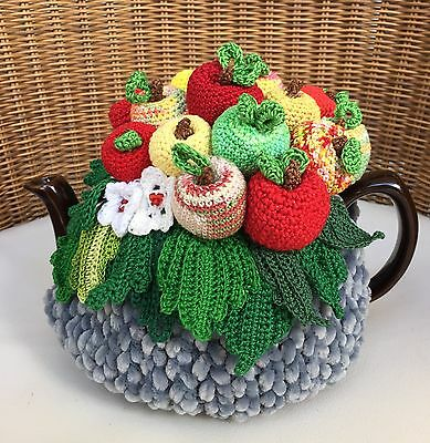 NEW  Handmade Tea Cozy Apple Paradise For Up To 6 Cups From Ukrainian Designer