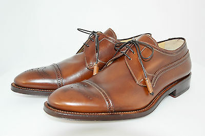 MAN-8eu-9usa-DERBY CAPTOE-BROWN CALF-VITELLO MARRONE-LTHR SOLE-SUOLA CUOIO