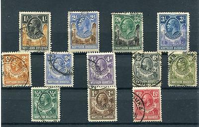 Northern Rhodesia 1925-29 short set to 3s SG1/13 (exc 8d) FU cat £137