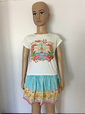 OILILY girls 2 Piece Outfit Set Skirt & Top Summer Both Age 4 Years / 104 Vgc
