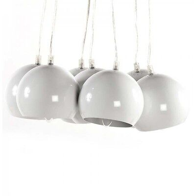 "Paris Prix - Lampe Suspension ""Grappe"" Blanche"