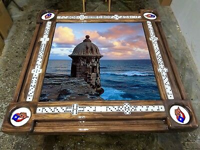 El Morro Garita Domino Table by Domino Tables by Art with your family name