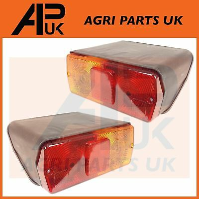 PAIR of Ford New Holland 5610,6610,7610,7810,TW Tractor Rear Brake Lights Lamps
