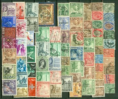 Malta Mixed Lot of 135 used & MH stamp Lot#5551  gtc