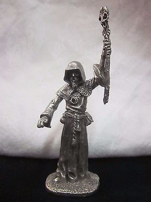 Fantasy Figure Figurines Gallo Daley Wizard Red Torch Fine Pewter Excellent 1989