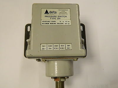 "Delta 201 Pressure Switch 1/4"" 10-40 Bar"