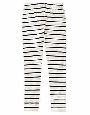 NWT Gymboree Girls Hop N Roll Navy Blue Striped Leggings Size 10 & 12