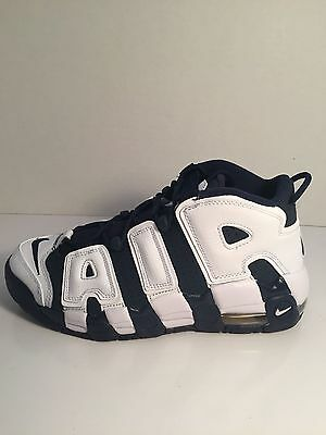 2016 Nike Air More Uptempo OLYMPIC Midnight Navy White 414962-104 Pippen 4y-14