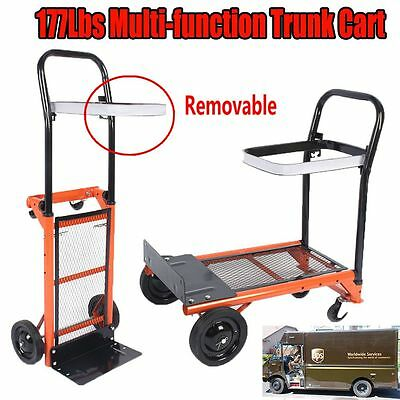 177lbs Cart Folding Dolly Push Hand Truck Moving Warehouse Collapsible Trolley