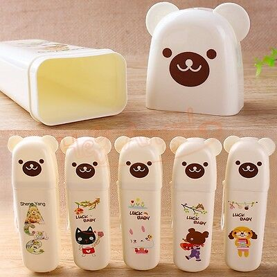 Cute Portable Toothbrush Holders Toothpaste Box Storage Cases Travel Necessities
