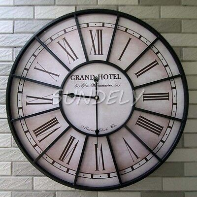 Vintage French Style Wall Clock In Antique Cream Perfect Country Kitchen Clock