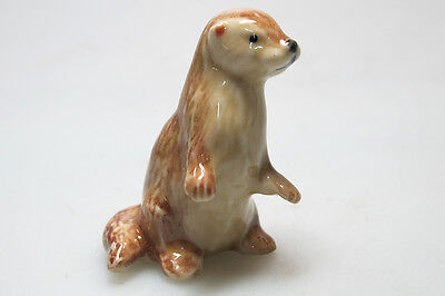Craft Gift Miniature Collectible Porcelain Ceramic Otter Figurine Animal Zoo