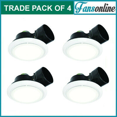 Fanco Luna LED 200 Exhaust Fan with Light - White | **TRADE PACK OF 4