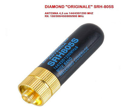 Diamond SRH-805S Mini Antenna per portatili 144/430/1200 MHz SMA FEMMINA