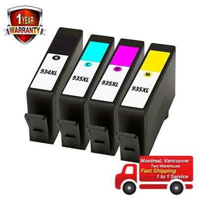 4PK High Yield Ink Cartridge for HP 934XL/935XL C2P23AN 6812 6815 6230 6830 6835