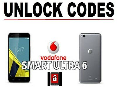 Vodafone SMART ULTRA 6 Unlock Codes LATEST AND FAST DATABASE