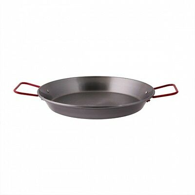 NEW,Paella Pan 420mm Black Steel,Commercial Quality Cookware