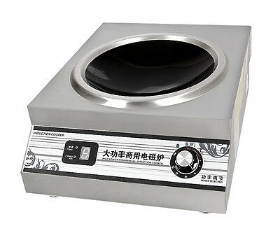5000W Commercial Induction Cooker High Power Electric Cooking Machine 220V