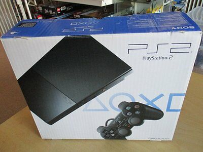 SONY PS2 Konsole Playstation 2 Charcoal Black OVP