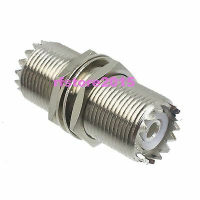 1pce Adapter Connector UHF SO239 female to UHF female nut M16 for Ham&CB Radio