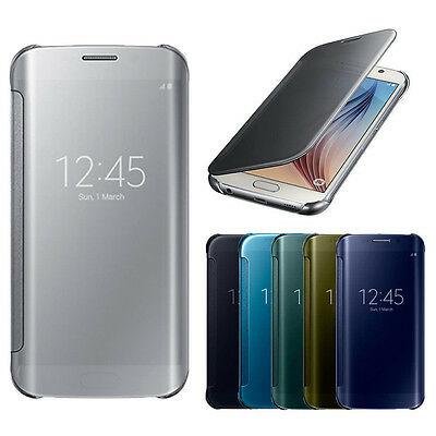 Luxury Mirror Smart View Window Leather Slim Flip Case For Samsung Galaxy S7 S8
