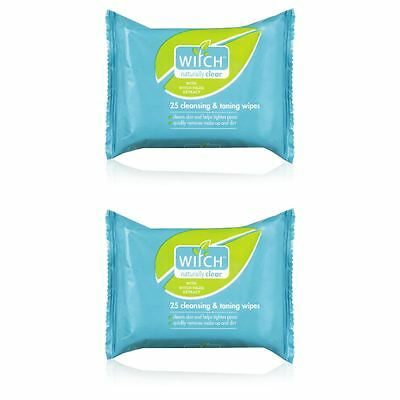 Witch Naturally Clear 25 Cleansing & Toning Wipes - 2 Pack