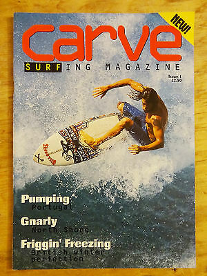 Carve Magazine Issue 1 Debut Edition Spring 1994 Surf Surfing Book Back Issue