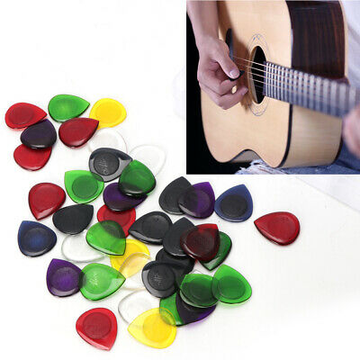 40Pcs Electric Acoustic Guitar Bass Pic Music Pick Plectrum Assorted Thickness