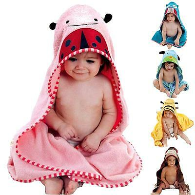 88x88cm Animal Face Hooded Woven Terry Baby Towel Pink Beetles