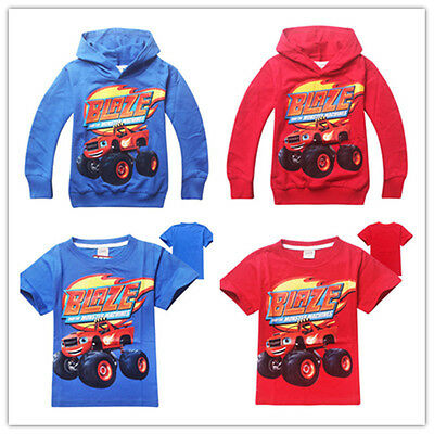 Hot!Kids Hoodies / T-Shirts Cartoon Printed Blaze and the Monster Machines Coat