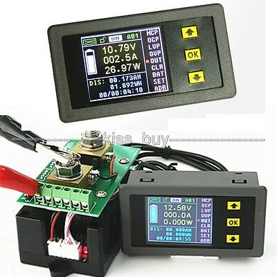 100A DC Wireless Volt amp Power Meter battery capacity Charge discharge + Shunts