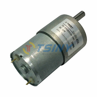 Reversible 50rpm High Torque 12V Metal Geared Box Motor Electric Gear Motor DC